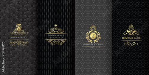Carta da parati Collection of design elements,labels,icon,frames, for packaging,design of luxury products