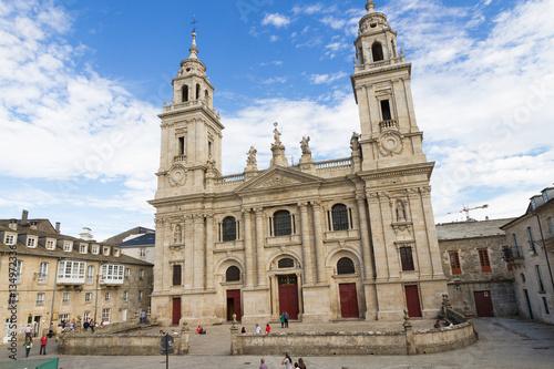 Fachada Exterior de la Catedral de Lugo en Galicia España / Catedral, Catedral de Lugo, Lugo, Galicia, España,