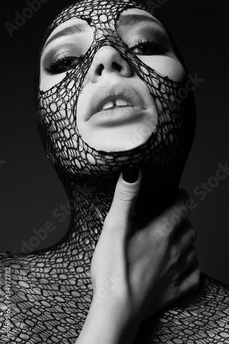 Foto op Plexiglas womenART portrait of gorgeous sensual woman with dark hair
