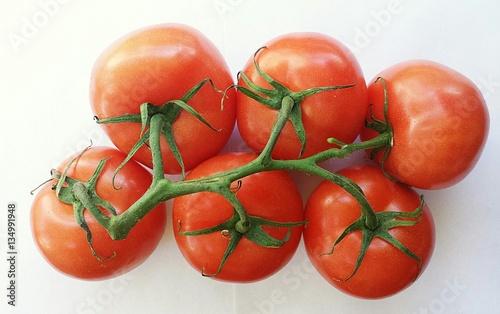 Foto op Canvas Baksteen tomatoes on a branch