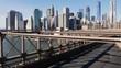 Manhattan Skyline from Brooklyn Bridge NYC