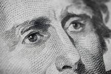 Andrew Jackson $20 Eye Close Up