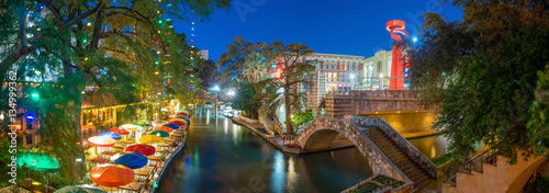 Canvas Prints American Famous Place River Walk in San Antonio, Texas