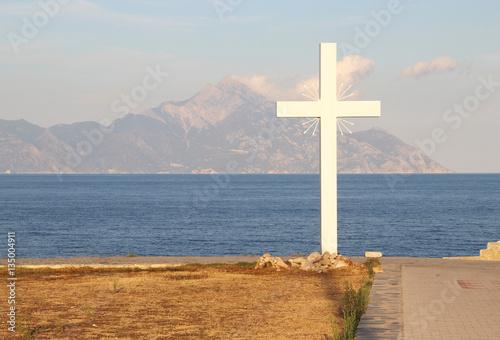 Fotografie, Obraz  View of holy mount Athos, Chalkidiki