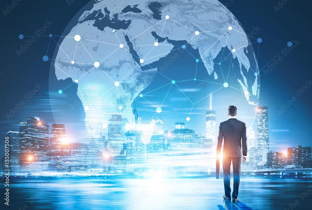 Fototapeta Global networking and business