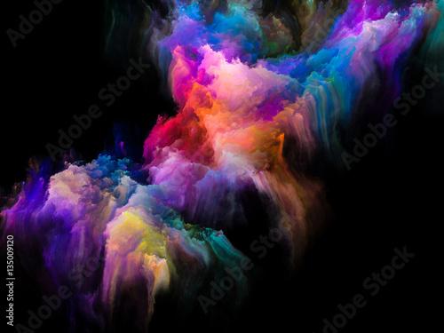 Illusions of Fractal Brush Canvas Print