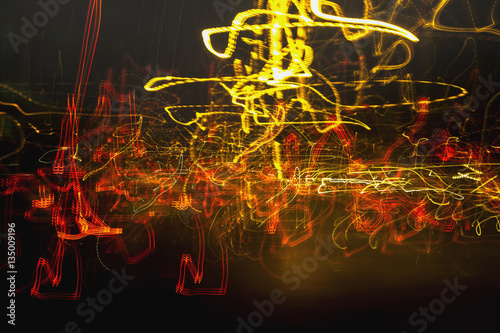 Foto op Aluminium Nacht snelweg The city colors of light dancing abstract background.