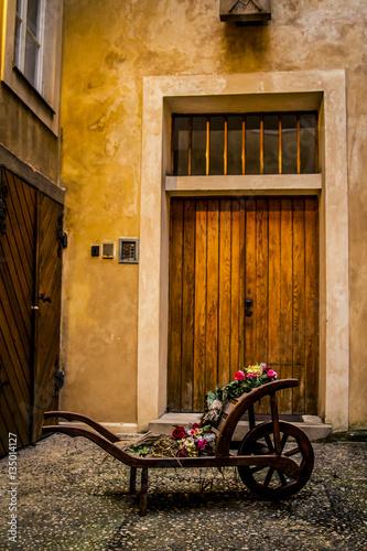 Photo  Wood cart