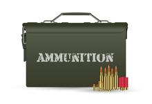 Green Military Ammunition Box ...