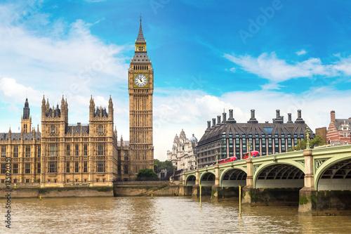 Big Ben, Parliament, Westminster bridge in London Canvas