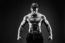 Bodybuilder Posing. Beautiful ...