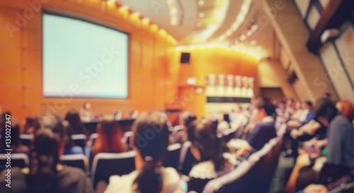 Fotografia, Obraz  Blur of auditorium room use for present meeting background