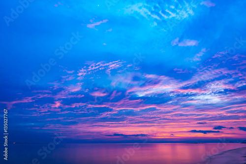 Foto op Aluminium Zee / Oceaan beach on vacation at sunset