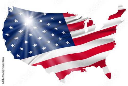 Photo  アメリカ  国旗 地図 アイコン