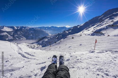 Foto op Canvas Ontspanning An der Skipiste entspannen