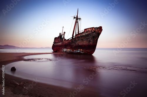 Poster Naufrage Wreck at Mediterranean Sea, Greece