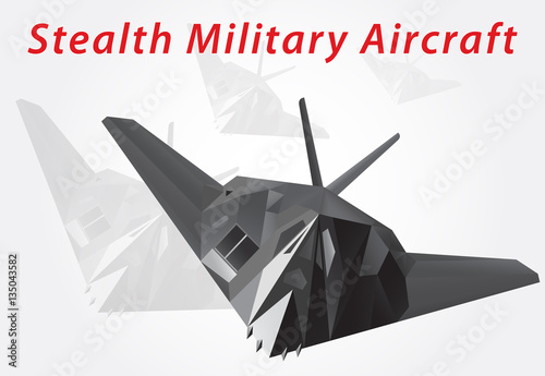 Photo  Stealth Military Aircraft. Vector illustration