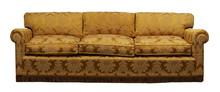 Antique Yellow Sofa On White B...