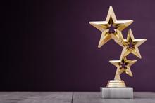 Gold Winners Award With Three Stars