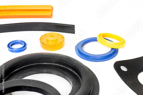 Fotografía  Rubber sealing many format colorful for industry.