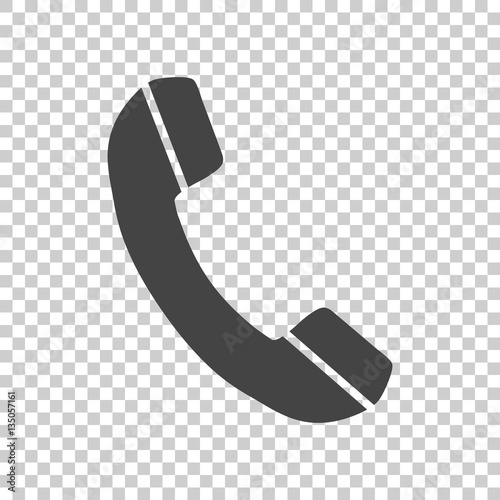 Phone icon in flat style. Vector illustration on isolated background. Wall mural