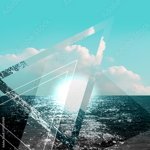 Photo Stands Turquoise Abstract