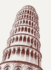 Fototapeta Tower of Pisa on the Square of Miracles in Pisa, Tuscany