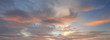 canvas print picture - Sky at sunset backgound