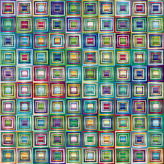 Fototapeta Very colorful series of squares or pixels in all the colors of the spectrum, from light to dark.
