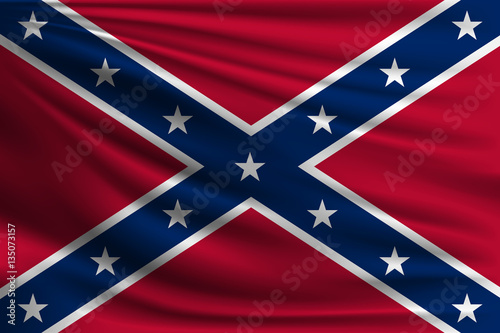 The national flag of Confederate Canvas Print