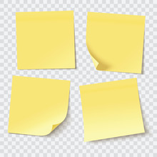 Yellow Sticky Notes, Vector Il...
