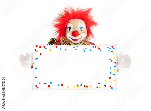 Clown mit Schild Canvas-taulu