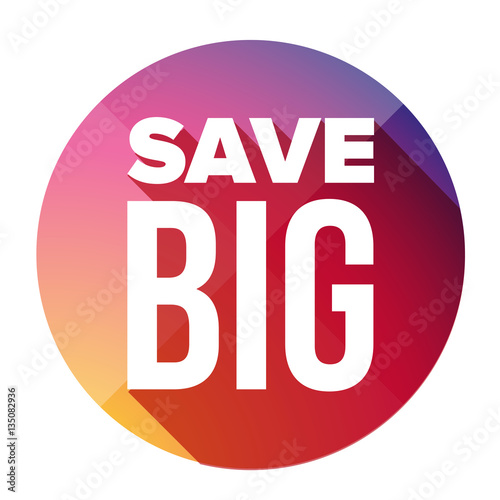Save Big button  Wall mural