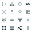 Set Of 16 Machine Learning Icons. Includes Branching Program, Related Information, Cyborg And Other Symbols. Beautiful Design Elements.