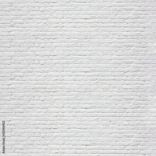Fotografie, Obraz Mur en briques blanches