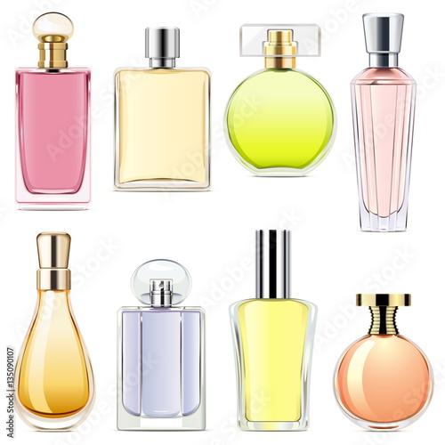 Fotografía  Vector Perfume Icons