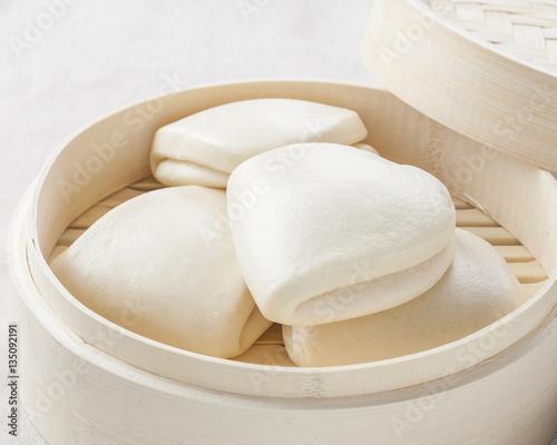 Garden Poster Spa Gua bao, steamed buns in bamboo, bao buns