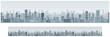 Monochrome Seamless Cityscape Banner Background