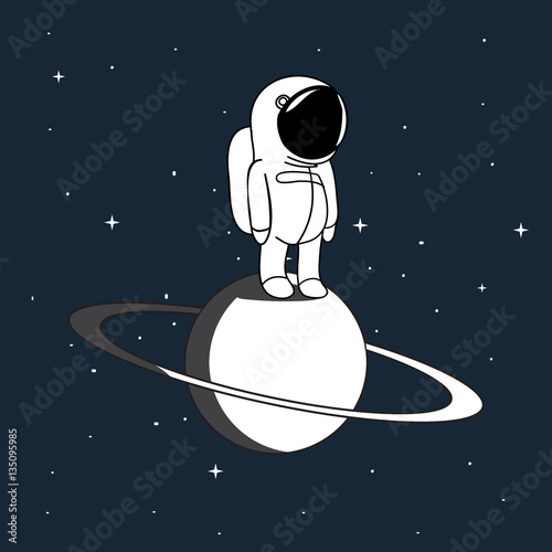 small-astronaut-vector-illustr