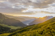 Mountains sunset (Caucasus, Abkhazia)