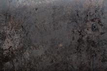 Worn Black Metal Background