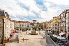 Virgen Blanca Square At Vitoria, Spain