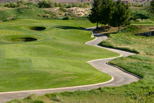 Winding Cart Path On Golf Course