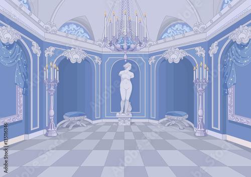 Printed kitchen splashbacks Fairytale World Palace Hall