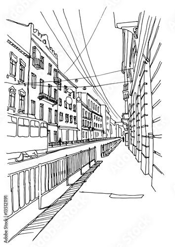 grafika-wektorowa-miasto-fasada-budynku