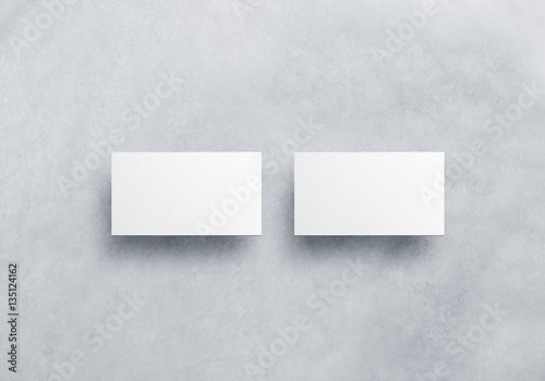 Blank white business card mockups isolated on grey textured blank white business card mockups isolated on grey textured background front and back side namecard reheart Image collections