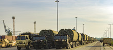 US Military Vehicles In The Port Of Szczecin, Poland