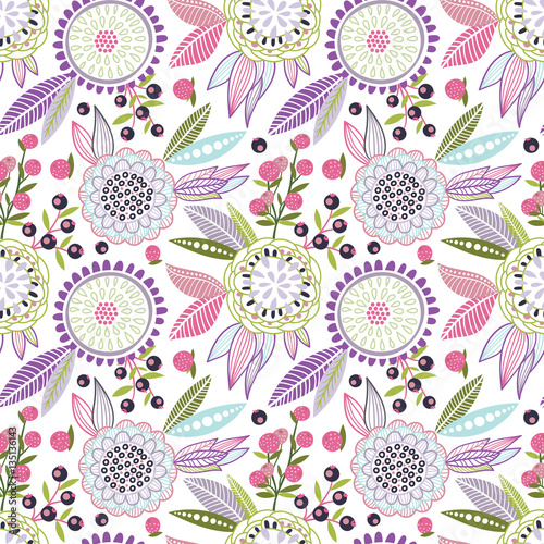 Cotton fabric Seamless floral pattern
