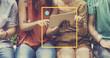 canvas print picture - Connect Communication Technology Internet Lifestyle Concept