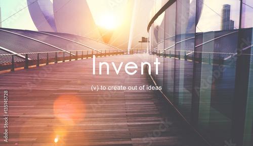 Obraz Invent Creative Invention Innovation Ideas Concept - fototapety do salonu